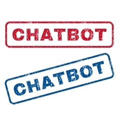 Chatbot Rubber Stamps vector