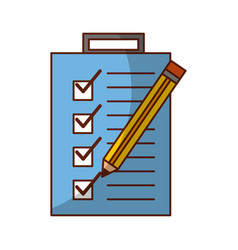 checklist order with pencil delivery service vector image