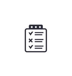 checklist survey icon on white vector image
