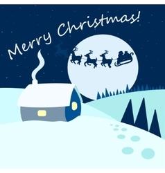 Christmas card cartoon vector image