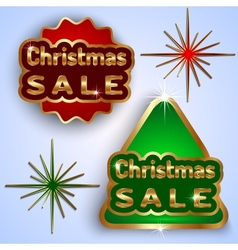 Christmas Sale Badges vector