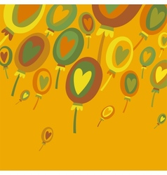 Colorful Balloons Abstract background vector image