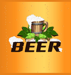 colorful beer emblem vector image
