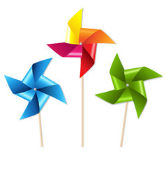 Colorful pinwheels vector