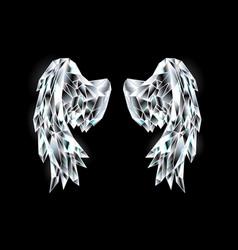Crystal wings vector