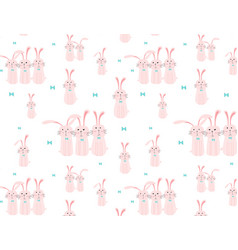 cute bunny pattern background vector image