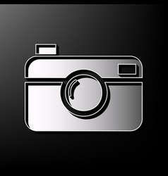 digital photo camera sign gray 3d printed vector image