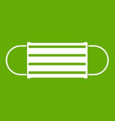 disposable face mask icon green vector image