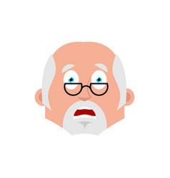 Doctor scared emotion avatar physician fear emoji vector