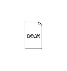 document docx icon vector image
