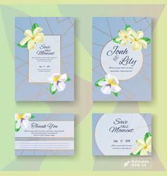 Editable wedding gratitude and invitation card set vector