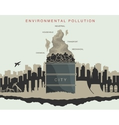 environmental pollution in the city vector image