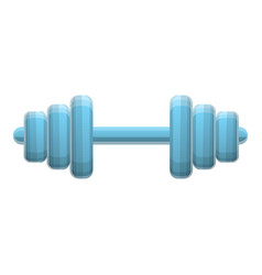 fitness barbell icon cartoon style vector image