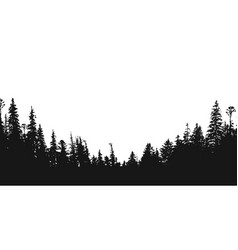 Forest silhouette backdrop vector