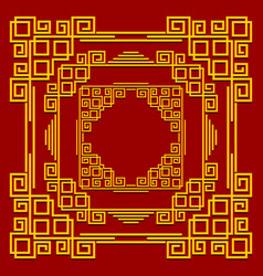 frames in the chinese style set of golden vector image