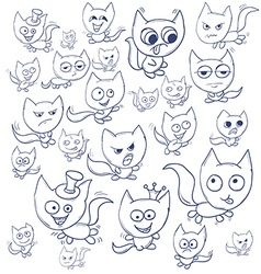 Funny cats contour Suitable for childrens stories vector image