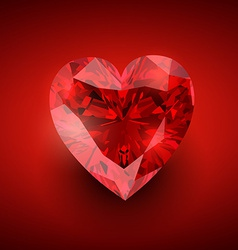 Glowing diamond heart vector