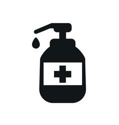 Hand sanitizer icon black shape vector