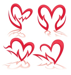heart in my hands collection of health symbols vector image