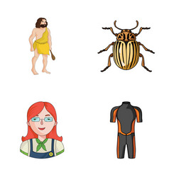 History profession and other web icon in cartoon vector