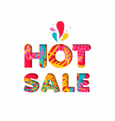 hot sale color quote sign for big special discount vector image