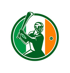 Hurling ireland flag icon vector