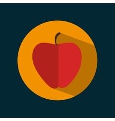 icon apple fruit nutrition sport design vector image
