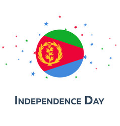independence day of eritrea patriotic banner vector image