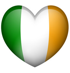 ireland flag in heart shape vector image