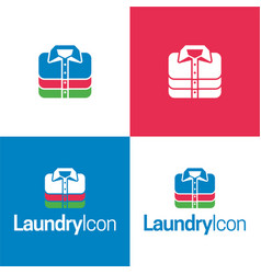 Laundry icon and logo vector