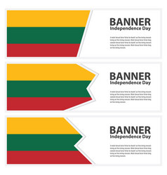 Lithuania flag banners collection independence day vector