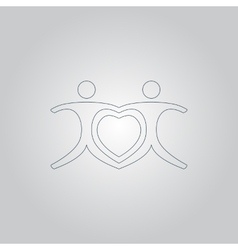 love people - heart vector image