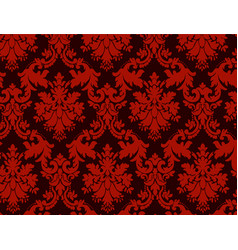 luxury ornamental background red damask floral vector image