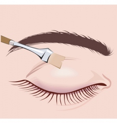 Makeup brush vector