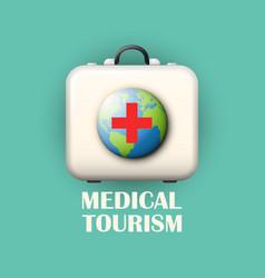 Medical tourism concept vector
