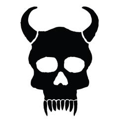 Monster skull with horns vector