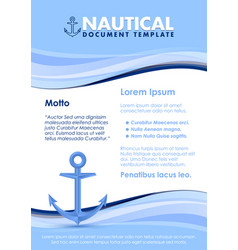 nautical document template vector image