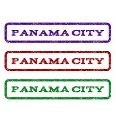 panama city watermark stamp vector image