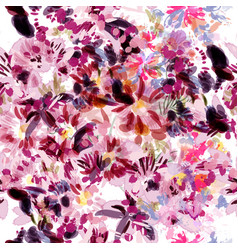 pattern with abstract flowers painted by spots vector image
