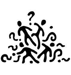 People question group stencil vector