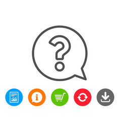 Question mark line icon help speech bubble vector