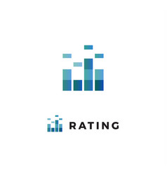 rating scale progress review chart logo business vector image