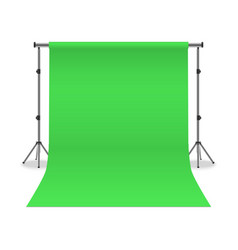 realistic detailed 3d photo studio green vector image
