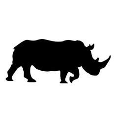 Rhino black silhouette vector