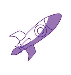 Rocket spaceship symbol vector