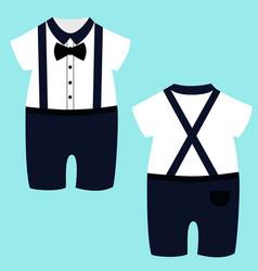 Romper suit for boys vector