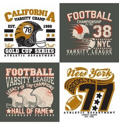 set tee shirt print designs vector image