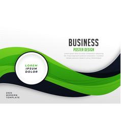 Stylish green theme business presentation vector