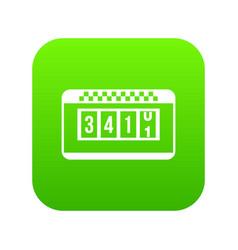 taximeter icon digital green vector image