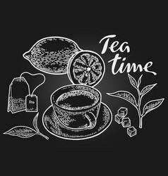 Tea timeb vector